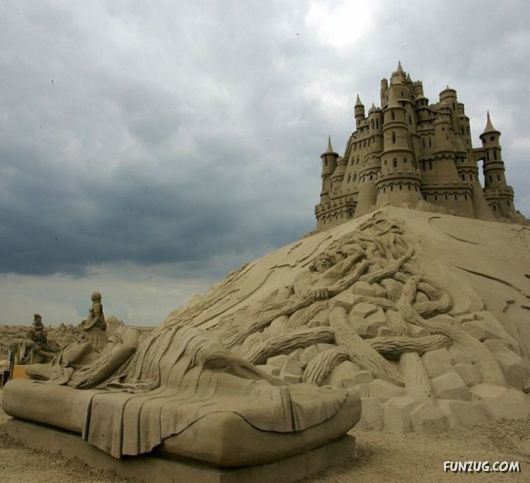 Superb Sand Sculptures Artwork