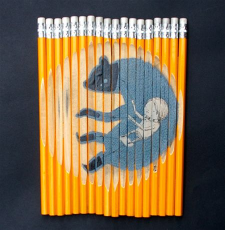 Creative Artwork on Pencil