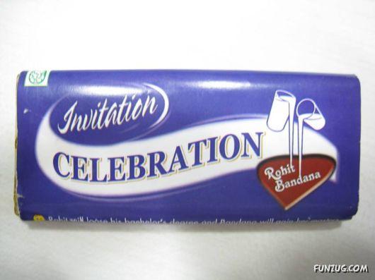 Creative Cadbury Wedding Invitation
