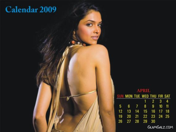 Click to Enlarge - Deepika Padukone Unofficial 2009 Calender