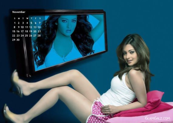 Click to Enlarge - Riya Sen 2009 Monthly Calender