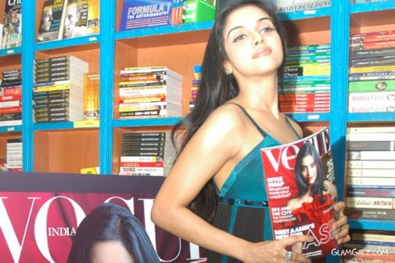 Asin Sizzles at Launch of Vogue